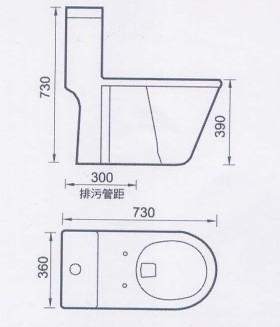 马桶手绘平面图