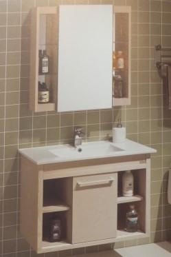 白色欧式浴柜