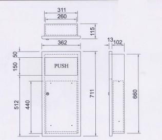 脚踏式垃圾桶(小3l)